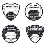 Set of 4 furniture stock illustration
