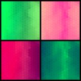 Set of four geometric colorful pattern Royalty Free Stock Photos