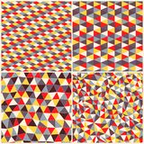 Set of four geometric pattern. Texture with triangles, rhombs.Mo Stock Photography