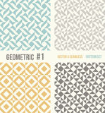 Set of four geometric patterns Royalty Free Stock Image