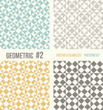 Set of four geometric patterns Stock Photo