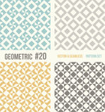 Set of four geometric patterns Royalty Free Stock Photo