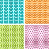 Set of four geometric patterns. Collection of different abstract patterns. Eps10 Vector Royalty Free Stock Images