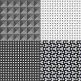 Set of four geometric patterns royalty free illustration
