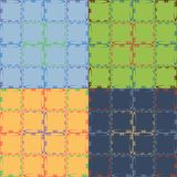 Set of four geometric seamless patterns Royalty Free Stock Images