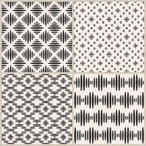 Set of four geometric vector seamless patterns Stock Image
