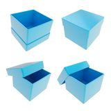 Set of four gift boxes isolated on white Royalty Free Stock Photography