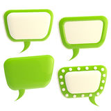 Set of four glossy text bubbles isolated Royalty Free Stock Photography