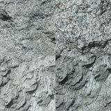 Set of four gray stone textures. Royalty Free Stock Images