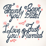 Set of four greetings Royalty Free Stock Image