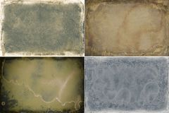 Set of four grunge frame textures. For your next project stock illustration