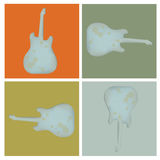 Set of four grunge rock guitar Stock Photo
