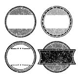 Set of four grunge templates for rubber stamps Royalty Free Stock Photos