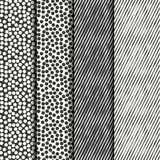 Set of four handdrawn textures Royalty Free Stock Photo