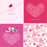 Set of four Happy valentines day backgrounds. Royalty Free Stock Images
