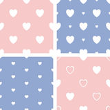 Set of four hearts pattern Royalty Free Stock Photo