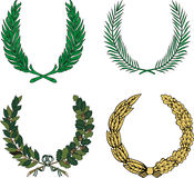 Set of four heraldic wreaths Stock Images