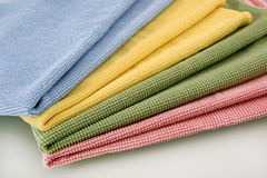Set of four honeycomb towels Royalty Free Stock Image