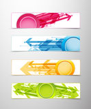Set of four horizontal banners with arrows Stock Photos