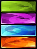Set of four horizontal colored banners. Or bookmarks. Additional vector format in EPS (v.8 Royalty Free Stock Photo