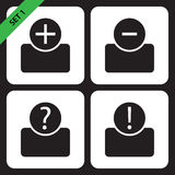 Set of four icons - black bust Stock Image