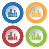 Set of four icons - equalizer Stock Image