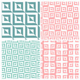 Set of four illusion square patterns Royalty Free Stock Photo
