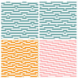 Set of four illusion square patterns Royalty Free Stock Photos