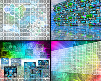 Set of four images Royalty Free Stock Photography