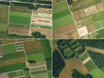 A set of four images of aerial photography Royalty Free Stock Image