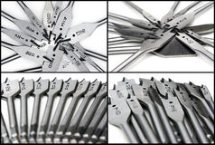 Set of four images of paddle bits. Four separate images of paddle bits in a set / collection Royalty Free Stock Photography