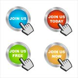 Join us icons stock illustration