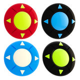 Set of four joystick buttons isolated Royalty Free Stock Images