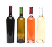 A set of four kinds of wine. See my other works in portfolio Royalty Free Stock Photo