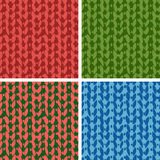 Set of four knitting patterns Royalty Free Stock Images