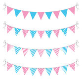 Bunting. A set of four lines of bunting Royalty Free Stock Photo