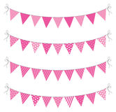 Bunting. A set of four lines of bunting Stock Photography