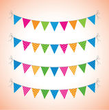Bunting. A set of four lines of bunting Stock Images