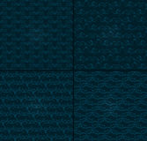 Set of four luxury backgrounds for festive flyer or holiday packages with abstract pattern. Stock Photo