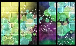 Universe wall magic. Set of four magic abstract banners vertical stock illustration