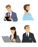 Set of four managers Stock Photo