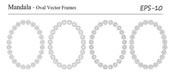 Set of four Mandala vector frames Stock Images