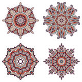 Set of four mandalas. Stock Photo