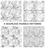 Set of four marble seamless patterns. Set of vector marble seamless textures. royalty free illustration