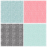 Set of four maze patterns Royalty Free Stock Photos