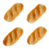 Set of four milk bread Stock Photo