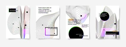 Set of four minimal geometric covers design abstract background. Modern future template to business brochures, banner, poster, vector illustration collection Royalty Free Stock Photo