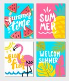 Summer themed posters Royalty Free Stock Image