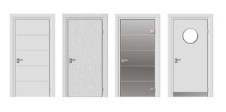 Set of four modern door Royalty Free Stock Image