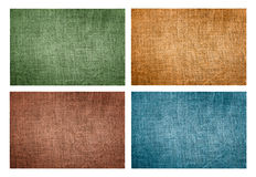 Set of four natural canvas textures Royalty Free Stock Images